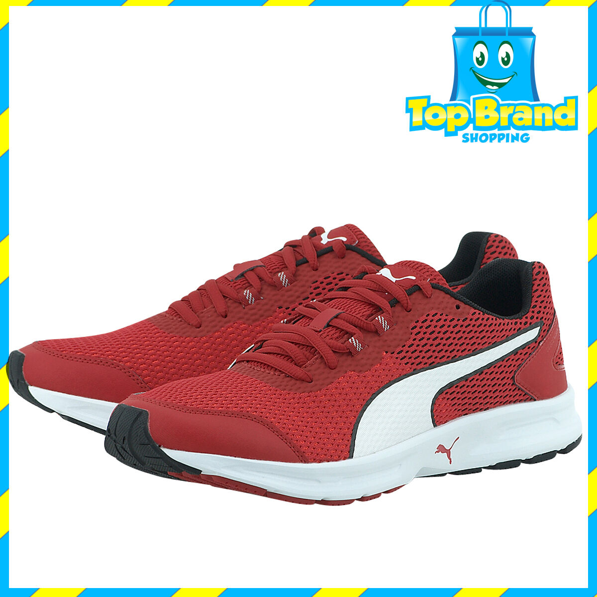 PUMA Uomo SPORTS bianca Barbados Cherry rosso bianca SPORTS gym scarpe joggers runners CHEAP deal 0f3025