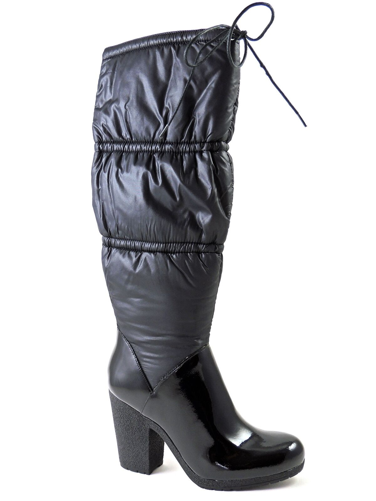 Angiolini Enzo Women's Handler Winter Boots Black Patent Leather Leather Leather & Puffer Sz 7 M d293bb