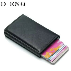 Anti-Rfid-Protection-Men-Women-id-Credit-Card-Holder-Wallet-Metal-Leather