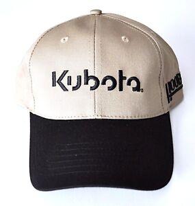 a6f3b09390b Kubota Hat Cap Tan and Black Strap Back Adult Adjustable Hook   Loop ...