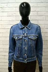 Giacca-Giubbino-Blu-in-Jeans-REPLAY-Taglia-Size-M-Giubbotto-Veste-Jacket-Woman