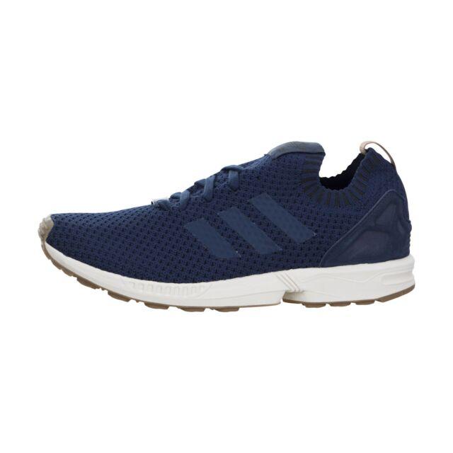 7d3dd5c49 adidas ZX Flux PK Mens BA7372 Navy Blue Gum Primeknit Running Shoes ...