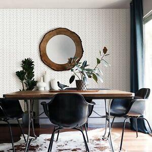 Brewster Bison Taupe Herringbone Wallpaper Chevron Modern