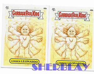 2X-2012-Topps-Garbage-Pail-Kids-New-Series-1-46b-Limber-Leonardo-Card