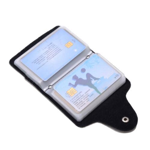 24 carte di credito Card Holder Portafoglio PU Cuoio Business ID Tasca Borsetta Scatola
