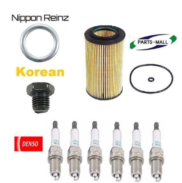 Tune UP KIT Plugs Oil Filter Plug Gasket For Hyundai