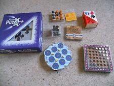 Seven Puzzles/Games inc chequers,Rubik's clock etc