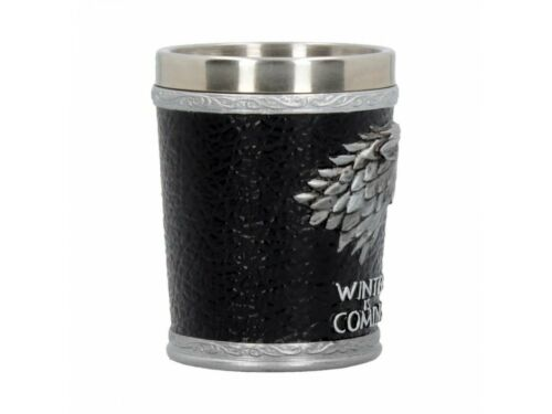 Stark Sigil Winter Is Coming Shot Glass Collectible Game of Thrones Wolf