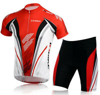 INBIKE Men Bike Bicycle Clothing Sets short sleeve cycling jersey&Trouser Sets