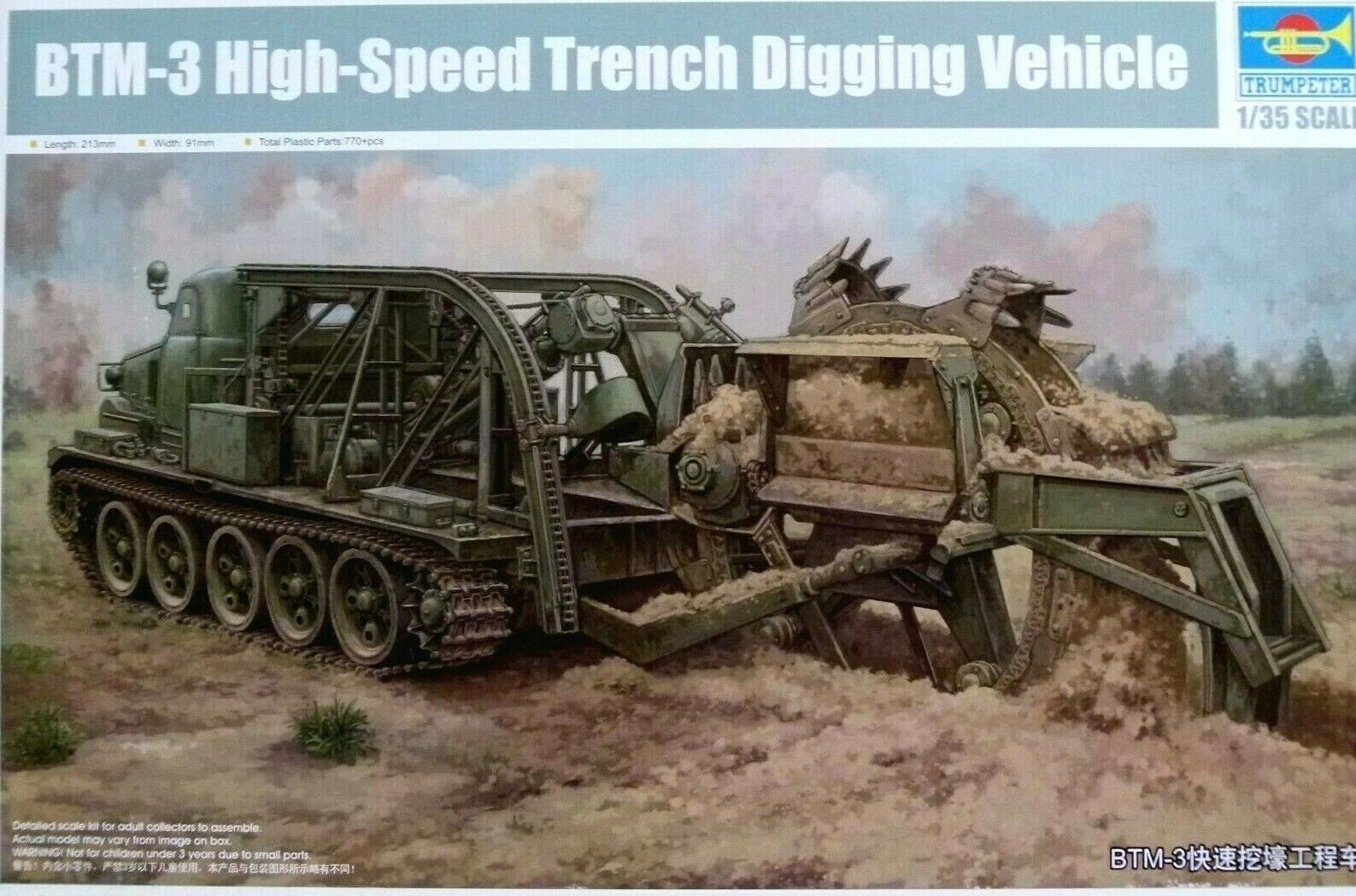 Trumpeter 1 35 BTM-3 High-Speed Trench Digging Vehicle Model Kit
