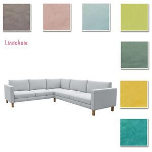 Custom-Made-Cover-Fits-IKEA-Karlstad-2-3-3-2-Corner-Sofa-Sectional-Velvet