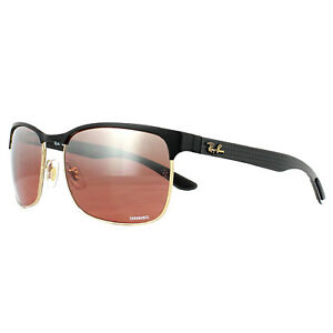 563ffcb9c54 Ray-Ban Sunglasses RB8319CH 9076K9 Black Gold Pink Mirror Polarized ...