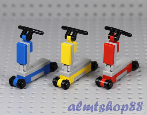 Kids Toy Boy Girl Minifigure City Tricycle LEGO 3x Scooter Blue Yellow Red