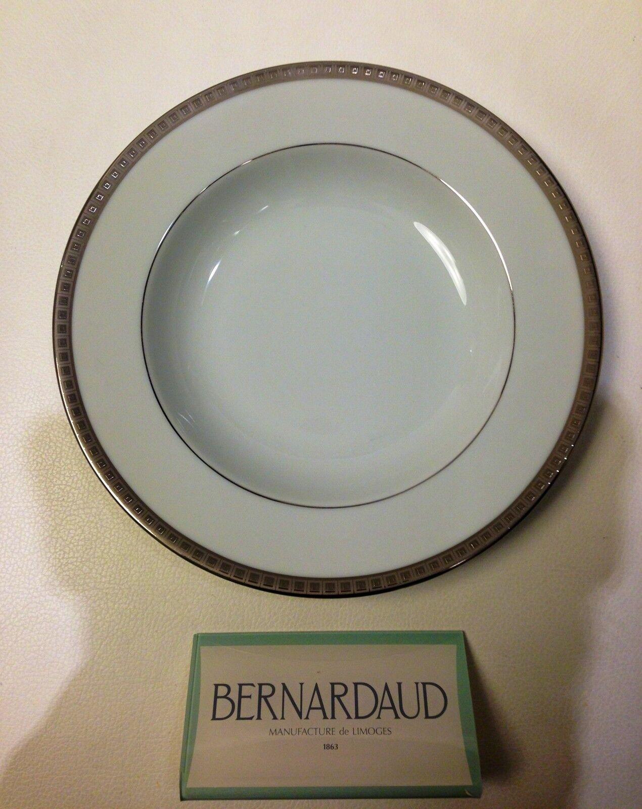 Piatto Fondo Porcellana - Phoebe Athena Platino - Bernardaud