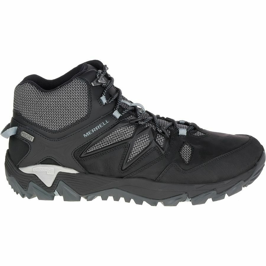 NEW MERRELL ALL OUT BLAZE 2 MID WATERPROOF MENS SHOES BLACK SNEAKER FREE SHIP