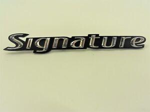 03 11 Lincoln Town Car Signature Script Emblem Roof Pillar Badge