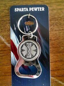 EMS-EMT-Paramedic-Star-Of-Life-Keychain-Bottle-Opener
