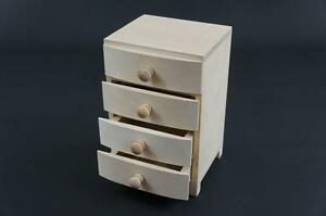 1-x-Small-Plain-Wooden-Natural-Jewellery-Cupboards-4-Drawers-Keepsake-Box-4S