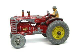 Matchbox-Lesney-No-4a-Tractor-Massey-Harris-concentradores-Amarillo-extremadamente-raro