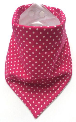 My Little Owl Bibs Bibdana Baby Girls Bandana Dribble Bib Cerise Pink Spots
