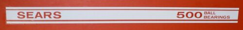 "19/"" x 1-3//8/""  CW125 White DECAL SET for SEARS 500 BALL BEARINGS Coaster Wagon"