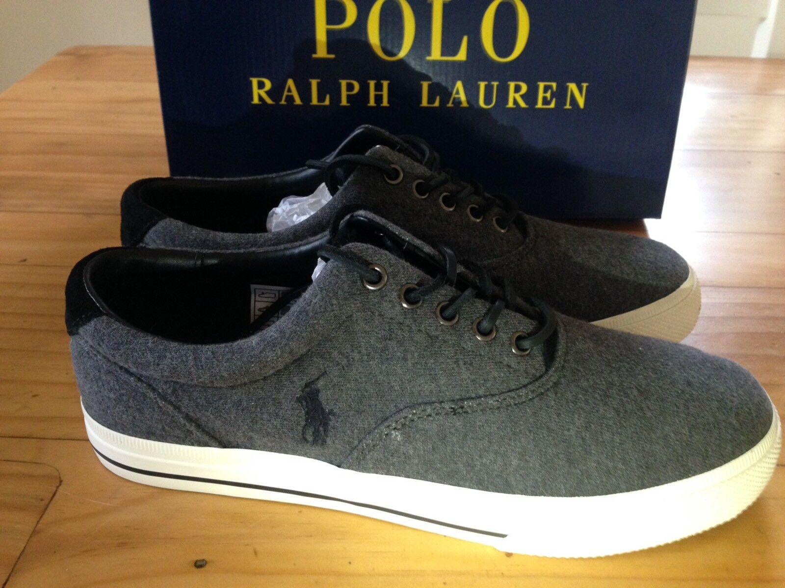 Ralph Lauren Polo Grey Vaughn shoes Trainers New In Box BNIB