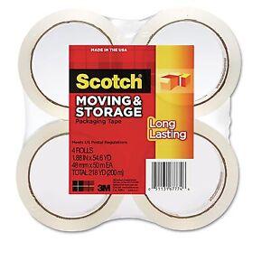 Scotch-3650-Moving-and-Storage-Tape-1-88-034-x-54-6YD-4-Rolls-MMM36504 ...