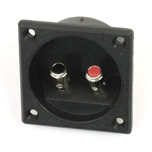 Square Shape Double Binding Post Type Speaker Box Terminal Cup Black J3T4