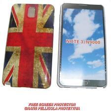 Pellicola+custodia BACK COVER IMD UK FLAG per Samsung Galaxy Note 3 N9000 (B6)