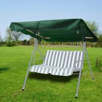 Deluxe Outdoor Swing Canopy Replacement Porch Top Cover Seat Patio Green