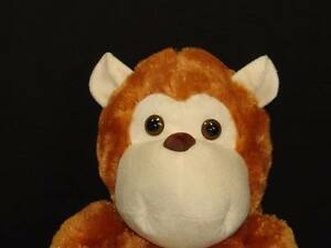 Big Soft Cuddle Me Toys Brown Monkey Peeling A Banana Plush Stuffed