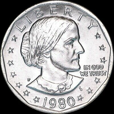 """1979 S Susan B Anthony Dollar US Mint Coin /""""About Uncirculated/"""" SBA"""