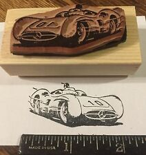 1954 Mercedes W196R race car RUBBER STAMP silver arrow, grand prix, 300 SLR