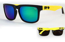 KEN BLOCK SUNGLASSES  MEN CYCLING SPY SUNGLASS YELLOW BLACK RIMMED FULL KIT