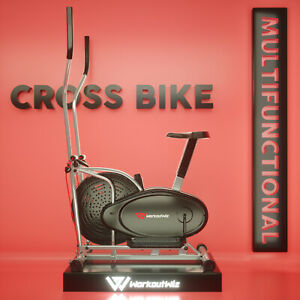 Workoutwiz Elliptical Cross Trainer Exercise Bike Bicycle Home Gym Fitness