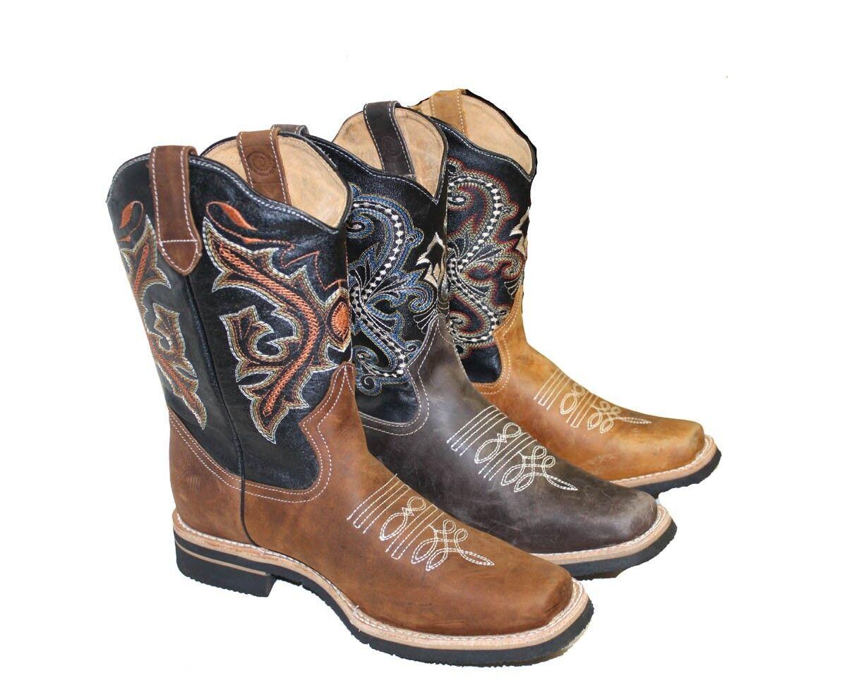 Homme Cuir Bottes Cowboy Imprimé Animal RODEO Cal Tor Prix Spécial 89.99