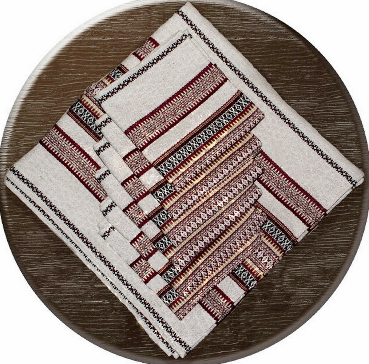 Ukrainian TABLECLOTH + 6 NAPKINS Woven Embroidery DIFFERENT GrößeS  Mother's Day