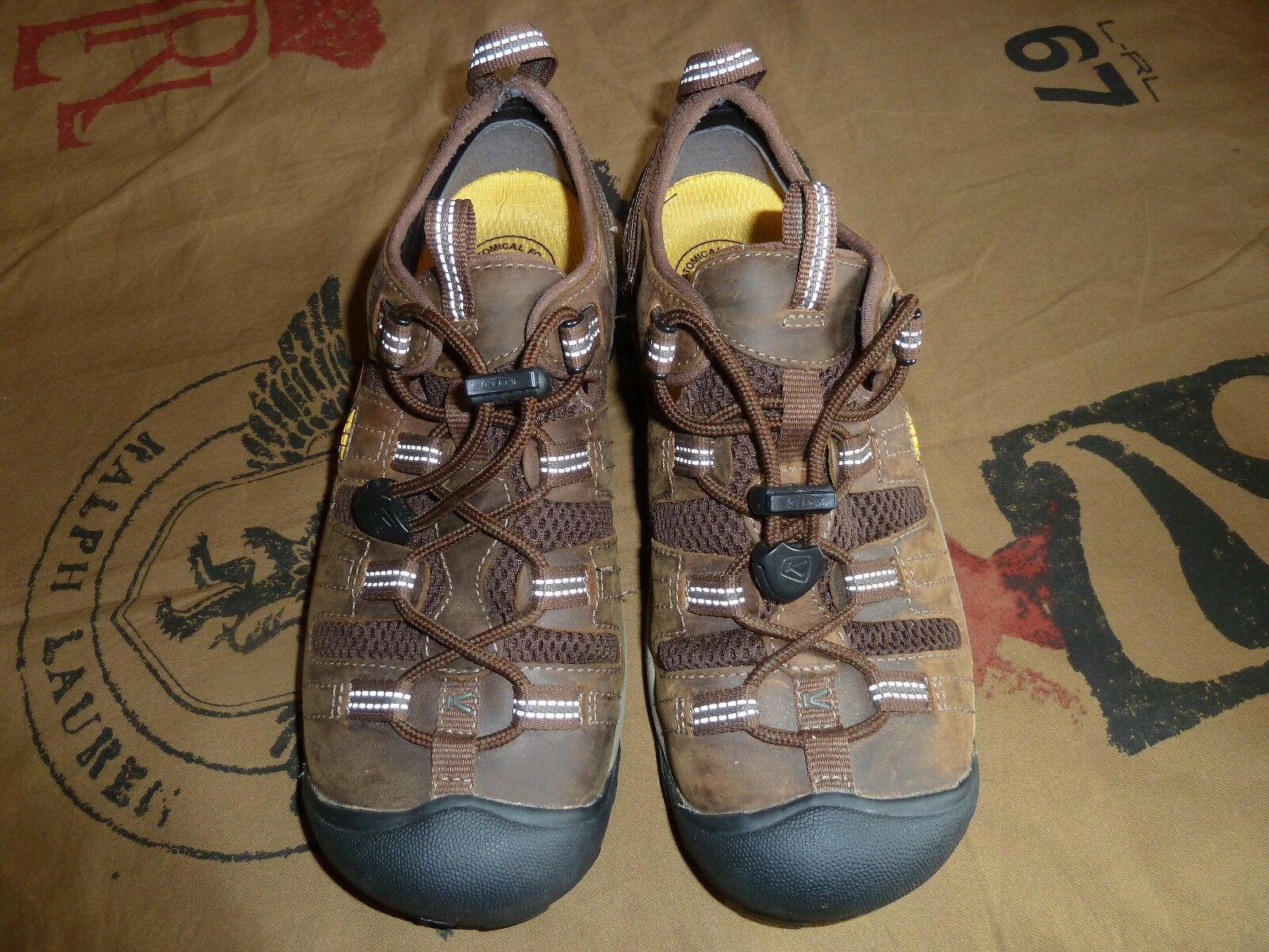 Keen Utility Men's Atlanta Cool Cascade Brown & Forest Night Soft Toe Work Shoes