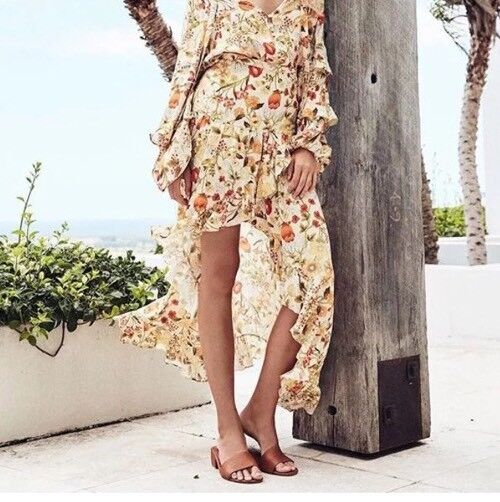 NWT Spell & The Gypsy Sumflower Maxi Skirt XXS Runs Big Rare