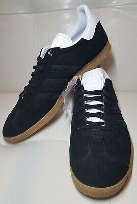 adidas Originals Gazelle Trainer Black/Gold/Gum EE5524 Suede Men's Size 13 | eBay