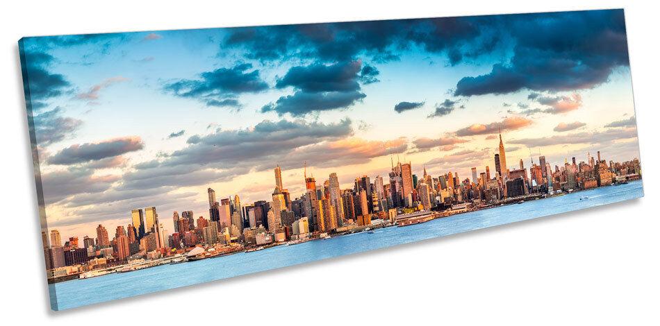 Manhattan New York Stadt Panorama CANVAS Wand Kunst Framed Drucken