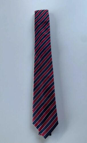 Details about  /Paul Smith Tie MAINLINE Navy/& Red Multi Stripe 6cm Blade tie Made in Italy