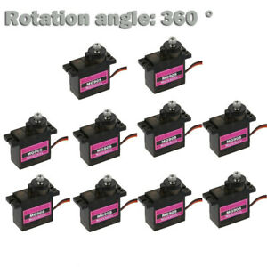 110PCs-MG90S-Micro-Metal-Gear-9g-Servo-for-RC-Plane-Helicopter-Boat-Car-360-AU