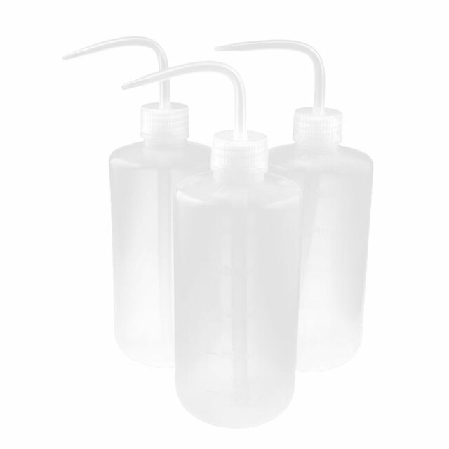 3pcs Clear Plastic Bent Tip Oil Liquid Squeeze Bottle Holder 500ml
