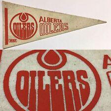 Vintage 1972 Alberta Oilers WHA 4x9 Canada MINI Pennant NHL Hockey Edmonton