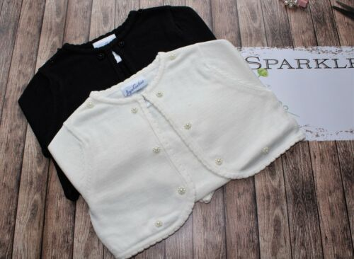 New Jayne Copeland Girls Ivory Off-White Sweater Cardigan Pearl Sz 2 3 4 5 6 6X