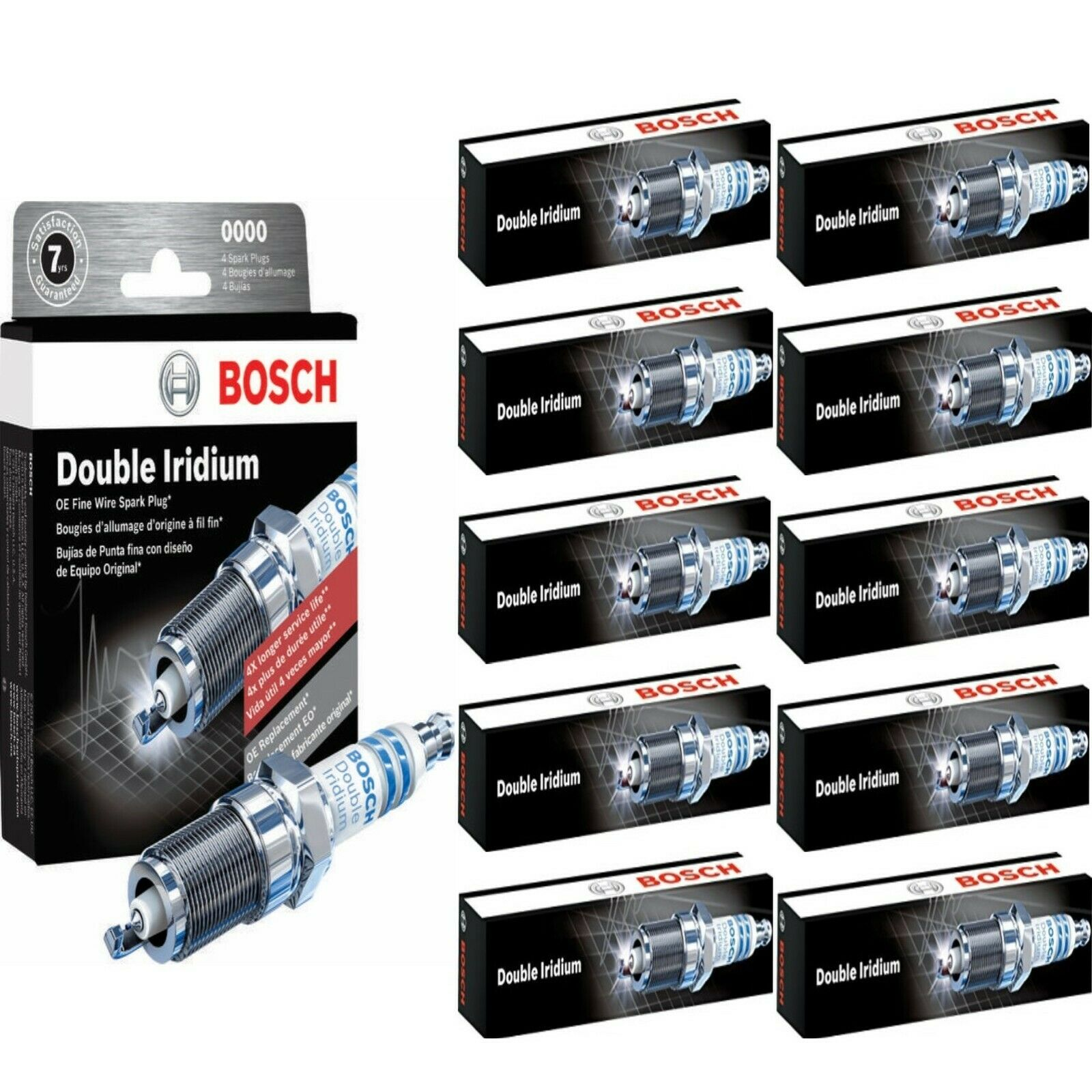 6 X Bosch Double Iridium Spark Plugs For 2010-2016 LINCOLN MKS V6-3.5L