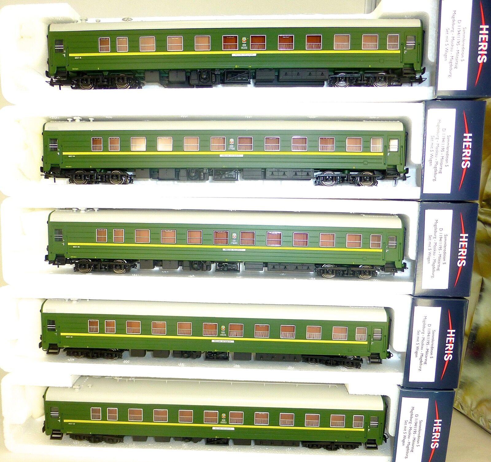 Tren Militar D 1194 1195 Moscú Magdeburg Soldado H0 1:87 Heris Emb.orig LF1 Μ