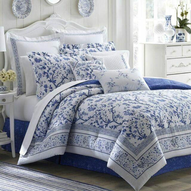 Laura Ashley 211391 Charlotte Comforter, Laura Ashley Bluebirds Bedding