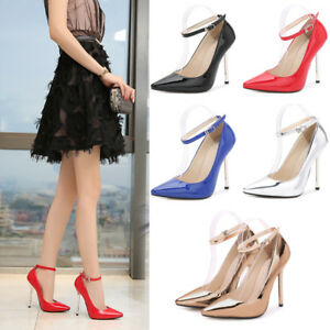 0f04da88c25 Details about Womens Pointy High Heels Stilettos Sandals Ladies Barely  There Party Shoes Size